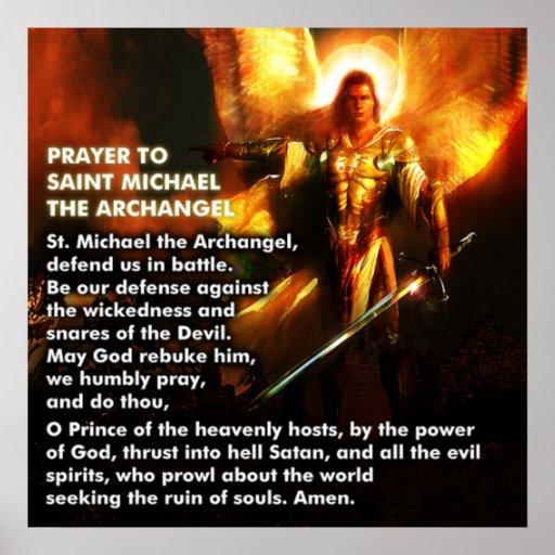 Oração de St Michael Pôsteres