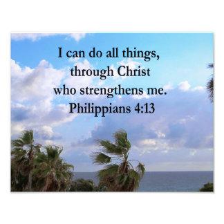 ORAÇÃO DO 4:13 DOS PHILIPPIANS IMPRESSÃO DE FOTO