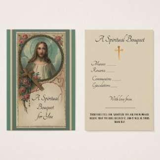 Oração do buquê espiritual que oferece o cartão