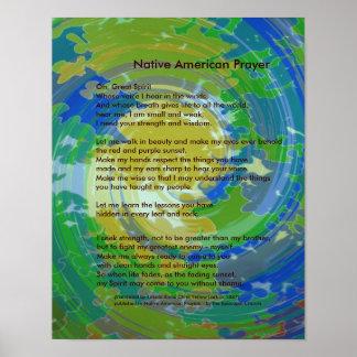 Oração do nativo americano poster