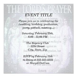 Oração do senhor convite quadrado 13.35 x 13.35cm