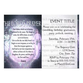 Oração do senhor convites personalizados