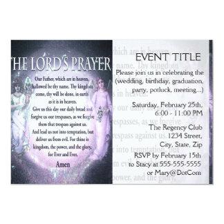Oração do senhor convite 12.7 x 17.78cm