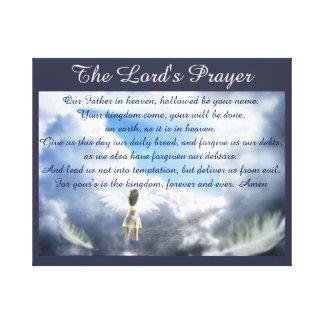 Oração do senhor impressão em tela