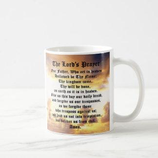 Oração do senhor, nascer do sol, café, chá, caneca
