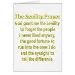 Oração do Senility Cartao