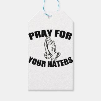 oração etiqueta para presente