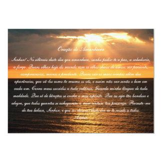 Oração faz Amanhecer Convite 12.7 X 17.78cm