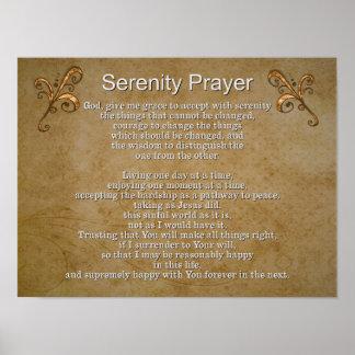 Oração II da serenidade -- Impressão da arte