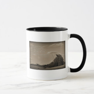 Oração irlandesa em um copo de café no presente do caneca