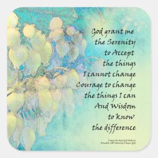 Oração Manzanita da serenidade Adesivo Quadrado