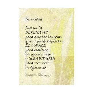 Oração Pampas da serenidade em canvas espanholas