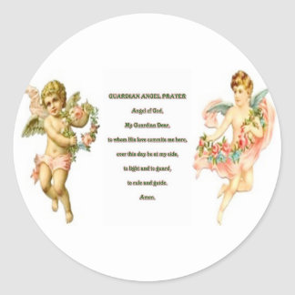 Oração para o anjo-da-guarda adesivo