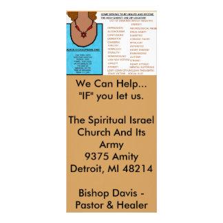 Oração respondida - a fé de uma semente de 10.16 x 22.86cm panfleto