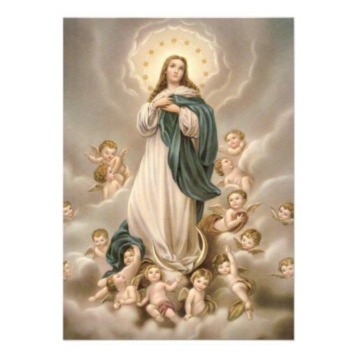 Oração um Nossa Senhora a Dinamarca Conceição Convite Personalizado