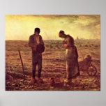 Oração vespertina pelo painço de Jean-Francois Pôsteres