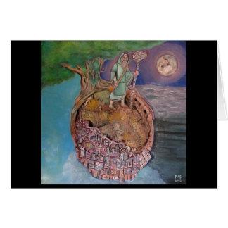 Oracles de um planeta Petrified Cartão Comemorativo