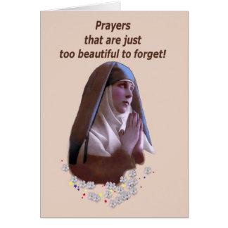 Orações demasiado bonitas para esquecer cartão comemorativo