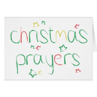 Orações do Natal Cartão Comemorativo