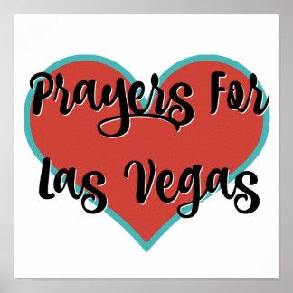 Orações para o poster do t-shirt do tributo de Las