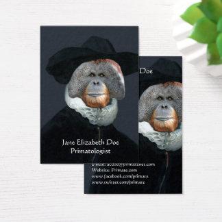Orangotango em um cartão de visita de Rembrant