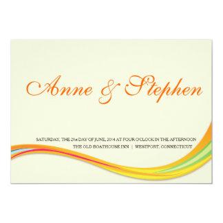oranye macio do convite simples do casamento