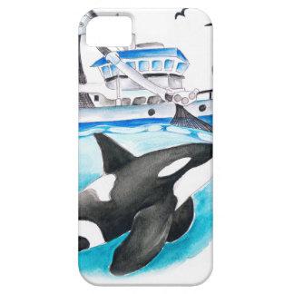 Orca e o barco capa barely there para iPhone 5
