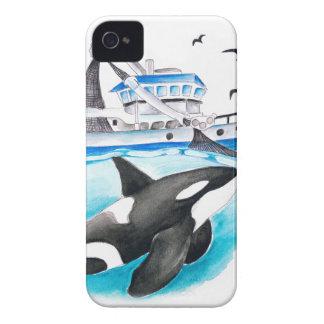 Orca e o barco capa para iPhone