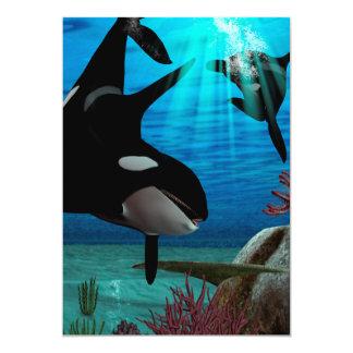 Orcas engraçadas convite personalizado