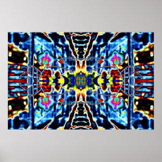 """""""ORCHADIA 5"""" arte psicadélico da meditação do abst Poster"""