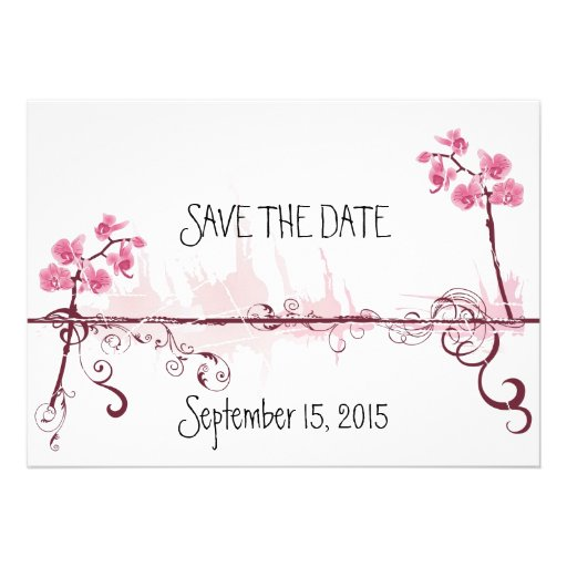 Orchids Wedding Save the Date Card Convite Personalizados