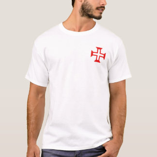 Ordem de cruz do cristo na camisa do bolso