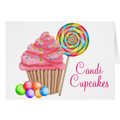 Ordem feita sob encomenda para cupcakes de Candace Cartao