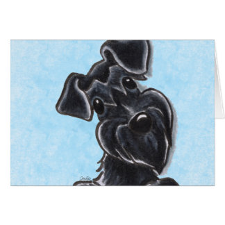 Orelhas naturais do Schnauzer preto feitas sob Cartão