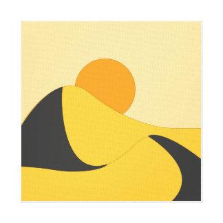 orenge liso abstrato do amarelo da paisagem do impressão em canvas