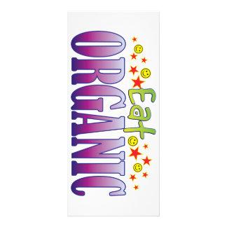 Orgânico coma 10.16 x 22.86cm panfleto