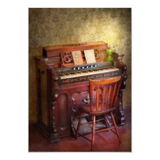 Organista - jogando as canções do evangelho convite 12.7 x 17.78cm