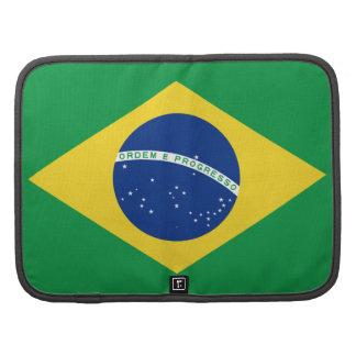 Organizador do fólio da bandeira de Brasil