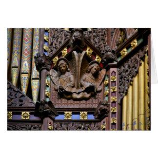 Órgão, catedral de Ely, cartão BRITÂNICO
