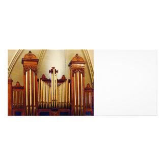 Órgão da igreja planfeto informativo colorido