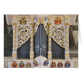 órgão de tubulação em Marktkirche, cartão de Halle
