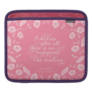 Orgulho Bookish floral & preconceito de Jane Capa Para iPad