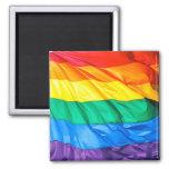 Orgulho contínuo - close up da bandeira do orgulho ímã quadrado