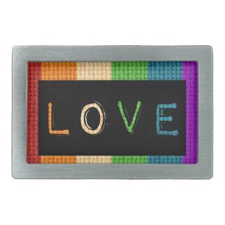 Orgulho da etiqueta LBGT do amor e apoio do aliado