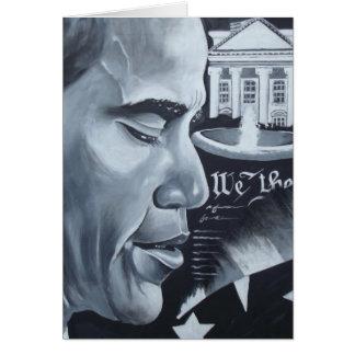 Orgulho de Obama Cartão Comemorativo