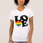 Orgulho do arco-íris do amor tshirt