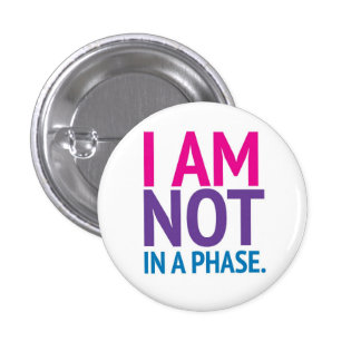 """Orgulho do Bi """"eu não estou botão de uma fase"""" Botons"""