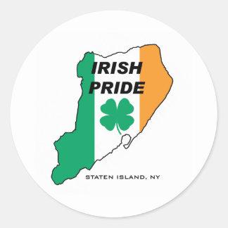 Orgulho do irlandês de Staten Island Adesivo Redondo