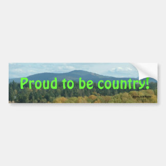 Orgulho do país adesivo para carro