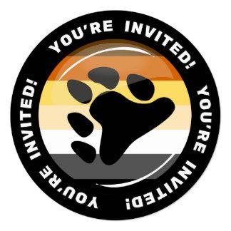 Orgulho do urso convite quadrado 13.35 x 13.35cm